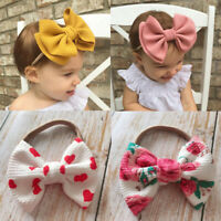 Baby Girls Kids Toddler Bow Knot Hairband Headband Stretch Turban Head Wrap Girl