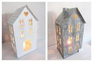 Laterne Lichthaus Metall Kerzenhaus Shabbby Vintage Lichterhaus Weihnachten 31cm
