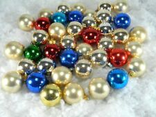 """Vintage Christmas Ornaments 1 5/8"""" Mini Size Assorted Balls Lot of 40"""