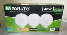 3 Pack Maxlite 6 Watt LED 40W Globe Dimmable Light Bulb 2700K Softwhite