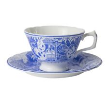 Factory New Royal Crown Derby Mikado Blue Tea Cup & Saucer