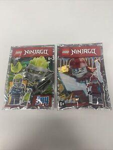 Lego -  Ninjago - Blizzard Samurai & Jay - Foil Packs 891956 & 891958 - New
