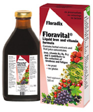 Floradix Floravital Yeast And Gluten Free Liquid Iron and Vitamin Formula (500ml