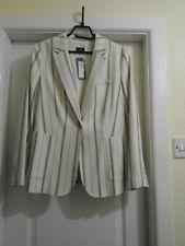 Marks & Spencer Collection-CREAM /NAVY STRIPED JACKET/BLAZER SIZE 18 BNWT