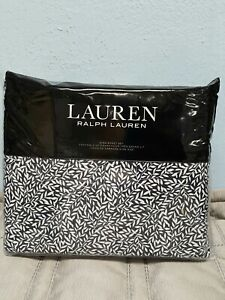 Ralph Lauren Spencer Leaf Sateen KING Sheet Set Navy
