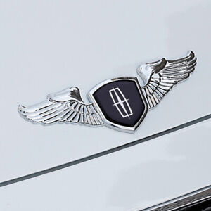 New 1Pcs 3D Chrome Zinc Alloy Wing Logo Hood Trunk Rear Badge Emblem fit Lincoln