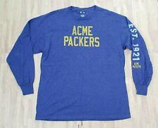 Green Bay Acme Packers 1921 Blue Long Sleeve Shirt Throwback ~ Men's XL ~ NFL