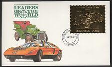 ZAMBIA (389) 1987 AUTO D'EPOCA-BMW in 22k ORO METALLIZZATO il primo giorno di copertura
