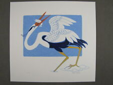 Rie Munoz Signed/Numbered Limited Edition Serigraph-Crane 67/500
