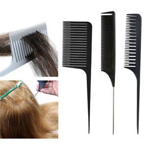 3Pcs Weaving Highlighting Foiling Hair Comb Salon Hair Coloring Combs Tool
