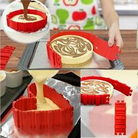 4* DIY Silikon Backform Kuchen Form Schlange Herz Erstellen Chape Nonstick Tray