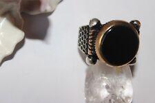 Silberring Männerring Ring Sterlingsilber 925 Handarbeit Onyx 68 (21,6 mm Ø)