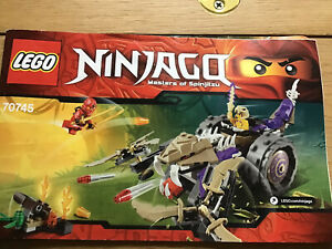 Lego Ninjago 70745 Anacondrai Crusher Includes Mini Figures
