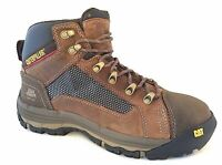 Caterpillar P90523 Mens Convex Mid Steel Toe Leather Lace Up Work Boots Size 8.5