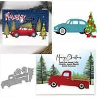 DIY Christmas Tree Car Metal Cutting Dies for Scrapbook Album Card Making he