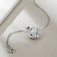 Crystal Chain Rhinestone Pendant Necklace Silver Plated Jewelry Square Zircon