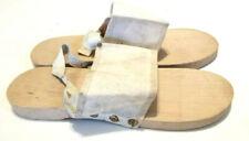 Korean Era Military Wooden Shower Slipper Shoes Size Medium Made in Tokyo Japan