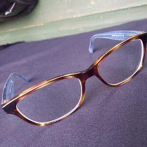Ralph Lauren Tortoiseshell Glasses Denim Blue Side Arms