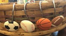 Set Of 12 Sports Balls Shower Curtain Hooks