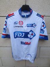 Maillot cycliste FDJ BIG MAT 2012 Française des Jeux UCI Pro Tour shirt jersey M