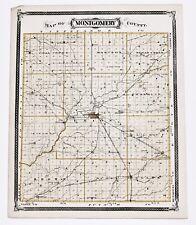 1876 Crawfordsville Indiana Montgomery County Ladoga Waveland Plats Railroads