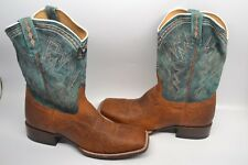 Cody James Cooper Smooth Ostrich Exotic WESTERN Boots, Mens 13 D SQUARE TOE