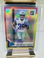 Tony Pollard 2019 Donruss Optic Red Yellow Rated Rookie #187 Cowboys Parallel RC