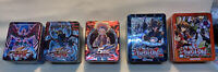 YU-GI-OH COLLECTOR TINS Empty (LOT OF 5) 2009 2010 2018 W/ Black Winged Dragon