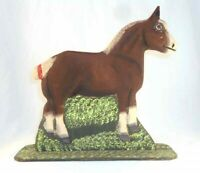 1990 Lancaster County Carved Wood Polychrome Painted Folk Art Horse by Menno