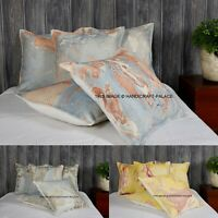 Vintage Cushion Cover Indian Cotton Cushions Hand Tie Dye Rug Pillows 5 pc Lot