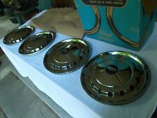 57 1957 Chevy Bel Air 14 Inch Hubcaps Wheel Covers NORS Set Of 4 CHROME PLATED