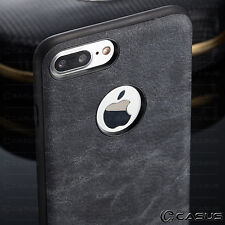 For iPhone X & 8/7/6s Plus Leather Back Ultra Thin Slim TPU Hard Skin Case Cover