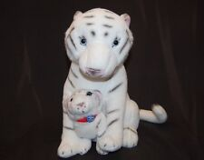 "White Tiger Mama Baby Cub Red Collar Greatest Show On Earth Plush 15"" Toy Lovey"