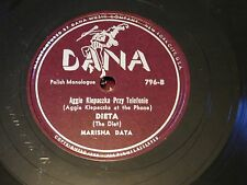 Marisha Data -Scarce 78RPM Dana 796 - Piesek / Dieta Aggie Klepaczka In  E-/E
