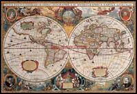 Chart Needlework DIY Art - Counted Cross Stitch Patterns - Map of the World