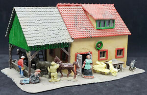 Faller Farm House B-276b Ho Scale, GERMAN VINTAGE. DECORATED