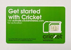 Cricket Wireless SIM - Prepaid 4G LTE Data Tri Cut Universal - Nano SIM Card Kit