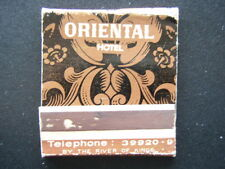 ORIENTAL HOTEL BY THE RIVER OF KINGS NORMANDIE GRILL BANGKOK'S FINEST MATCHBOOK