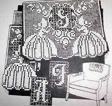 6091 Vintage FILET INITIAL CHAIR SET Pattern to Crochet (Reprint)