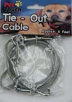 Attache Câble Chien/Chat/Animal de compagnie 3m 6m 9 m X 5mm housse en plastique