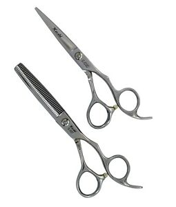 "Kashi Hair Cutting Styling Shears 6"" & Thinning shears Set 440C Japanese steel"