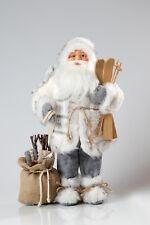 Dekorativer Weihnachtsmann stehend ca.45cm / Santa Claus Nikolaus weiß
