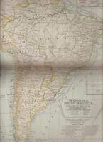 South America Century Atlas 1897 Antique Map #69 11 3/4 x 16