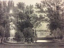 Grande estampe de Paris Palais de l'Elysée en 1866 superbe
