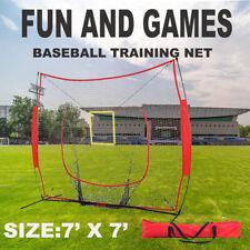 Heavy Duty Portable Baseball Training Net Stand Softball Practice Sports Tennis
