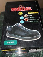 NEW BRAHMA Grate Steel Toe Slip Oil Resistant Work Black Shoes Mens 8.5 8 1/2