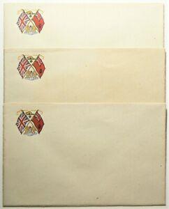 1939 Royal Visit Branded Envelopes Lot of 3 Unused #11957