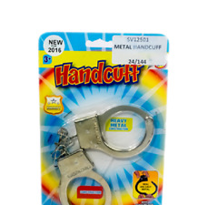 METAL HANDCUFF - SV12501 POLICE SECURITY FANCY DRESS COPS ROBBERS NAUGHTY PARTY