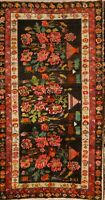 "EXCEPTIONAL Floral 5x9 Wool Karabakh Kazak Russian Oriental Area Rug 8'9"" x 4'9"""