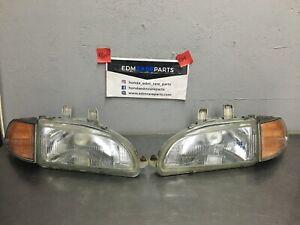 Honda Civic EDM Glass power adjustable headlights Eg eg6 ej2 ej1 EJ Sir Vti eg1